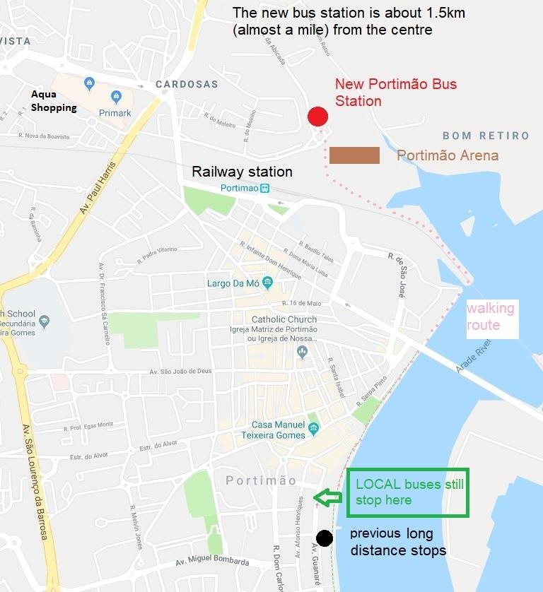 Bus Timetables Portimao Area